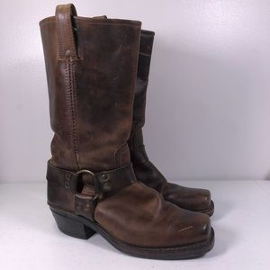 Frye 77300 Leather Harness Motorcycle Biker Boots